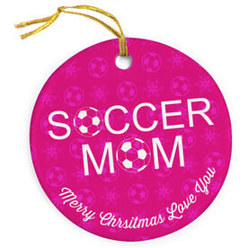 Soccer Porcelain Ornament Mom Ball