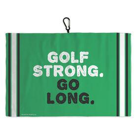 Golf Bag Towel Golf Strong Go Long