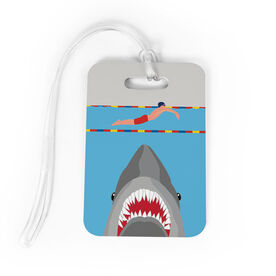 Swimming Bag/Luggage Tag - Shark Attack (Guy Swimmer)