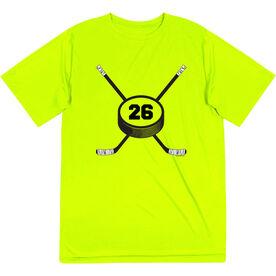 Hockey Short Sleeve Performance Tee - Personalized Hockey Number