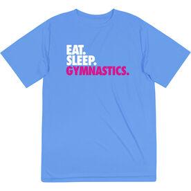 Gymnastics Short Sleeve Performance Tee - Eat. Sleep. Gymnastics.