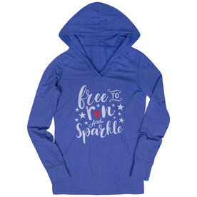 Women's Running Lightweight Performance Hoodie - Free To Run And Sparkle