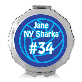 Personalized Volleyball Ball Color Compact Mirror