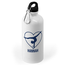 Gymnastics 20 oz. Stainless Steel Water Bottle - Personalized Heart