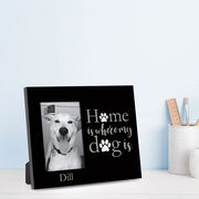 Personalized Photo Frame - Home is Where My Dog Is