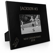 Field Hockey Engraved Picture Frame - Name and Number (Player Silhouette)