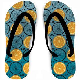 Triathlon Flip Flops Citrus Swim Bike Run