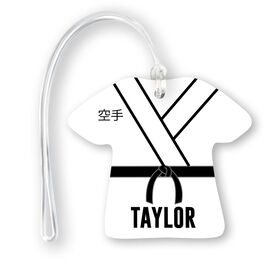 Personalized Jersey Bag/Luggage Tag - Karate Gi Outfit