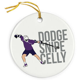 Guys Lacrosse Porcelain Ornament - Dodge Snipe Celly