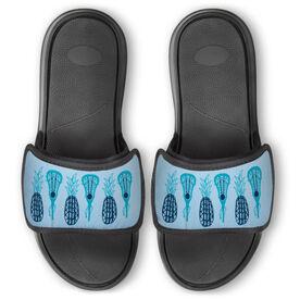 Girls Lacrosse Repwell™ Slide Sandals - Pineapples