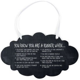 Running Cloud Sign - Vintage You Know You're A Runner When