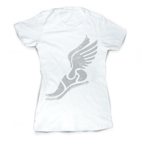 Vintage Track & Field Fitted T-Shirt - Winged Foot Grunge