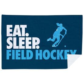 Field Hockey Premium Blanket - Eat. Sleep. Field Hockey. Horizontal