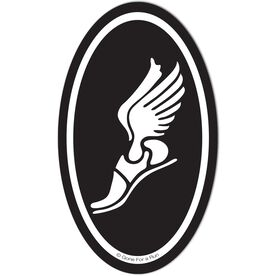Winged Foot Decal (Black/White)