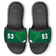 Guys Lacrosse Repwell® Slide Sandals - Stick and Number Reflected