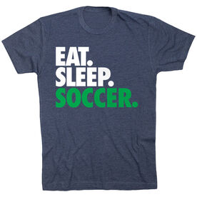Soccer T-Shirt Short Sleeve Eat. Sleep. Soccer.