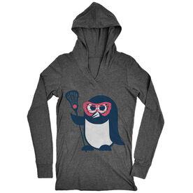 Girls Lacrosse Lightweight Performance Hoodie Penguin