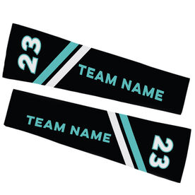 Football Printed Arm Sleeves - Football Team Name and Number