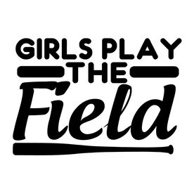 Girls Play The Field Softball Vinyl Decal