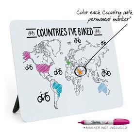Desk Art - Countries I've Biked Outline