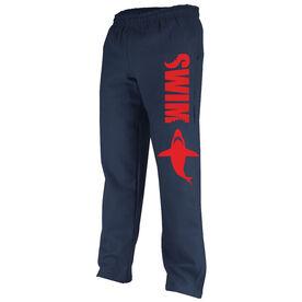 Swimming Fleece Sweatpants Swim With The Sharks