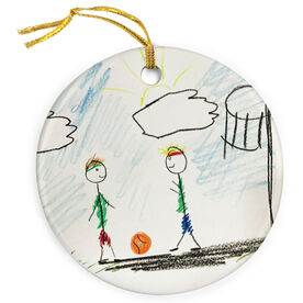 Basketball Porcelain Ornament Your Drawing
