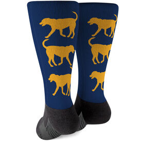 Printed Mid-Calf Socks - Labrador