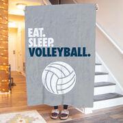 Volleyball Premium Blanket - Eat. Sleep. Volleyball. Vertical