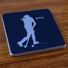 iPlay Field Hockey - Stone Coaster