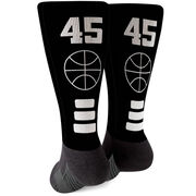 Basketball Printed Mid-Calf Socks - Team Colors