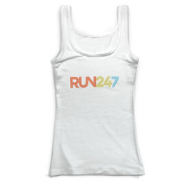 Running Vintage Fitted Tank Top - Run 24/7