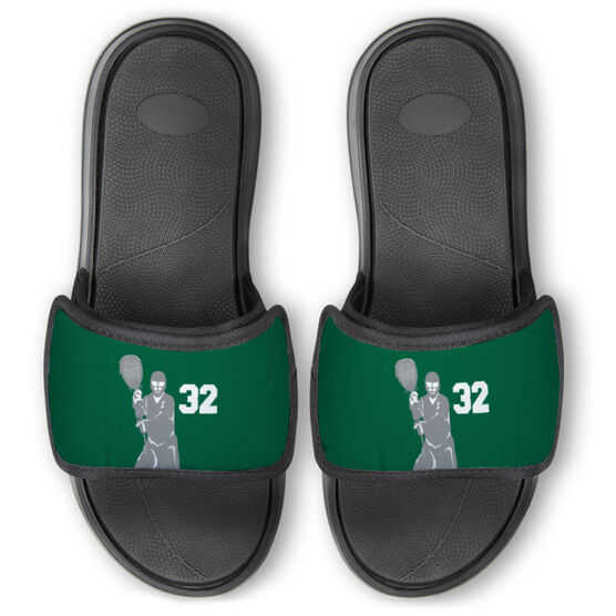 Guys Lacrosse Repwell® Slide Sandals - Goalie With Number