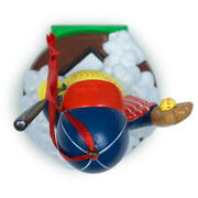 Softball Ornament - Softball Snowman
