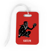 Softball Bag/Luggage Tag - Personalized Softball Catcher