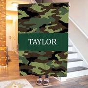 Personalized Premium Blanket - Camo Pattern