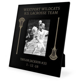 Guys Lacrosse Engraved Picture Frame - Side Sticks