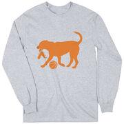 Basketball Tshirt Long Sleeve Baxter The Basketball Dog