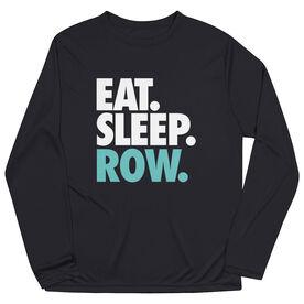 Crew Long Sleeve Performance Tee - Eat. Sleep. Row.