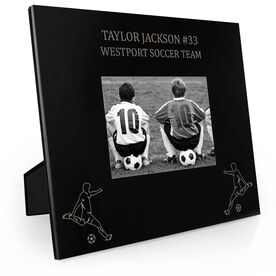 Soccer Engraved Picture Frame - Two Guy Players