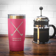 Field Hockey 20 oz. Double Insulated Tumbler - Crossed Sticks Icon