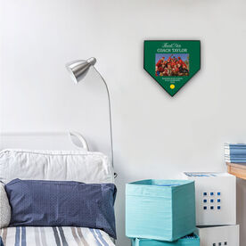 Softball Home Plate Plaque - Thank You With Photo
