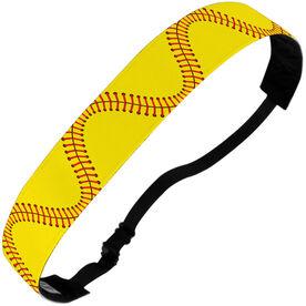 Softball Julibands No-Slip Headbands - Stitches (Wavy)