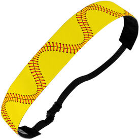 Softball Julibands No-Slip Headbands - Stitches (Wavy)