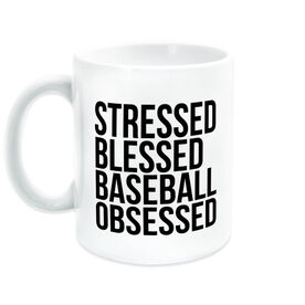Baseball Coffee Mug - Stressed Blessed Baseball Obsessed