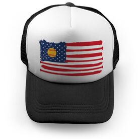 Softball Trucker Hat - American Flag