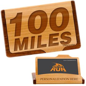 100 Miles Maple Business Card/Credit Card Holder