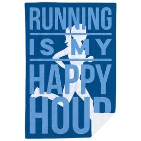 Running Premium Blanket - Running is My Happy Hour