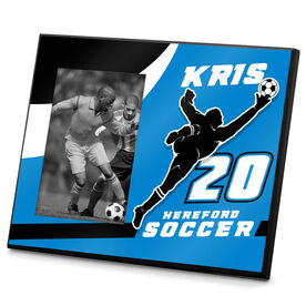 Soccer Photo Frame Personalized Male Soccer Goalie