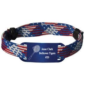Personalized Tennis Lace Bracelet Racket Adjustable Sport Lace Bracelet