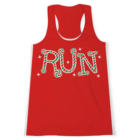 Women's Performance Tank Top - Candy Cane Run